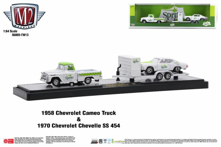 M2-Machines-Coca-Cola-Auto-Haulers-Release-TW13-1958-Chevrolet-Cameo-Truck-1970-Chevrolet-Chevelle-SS-454