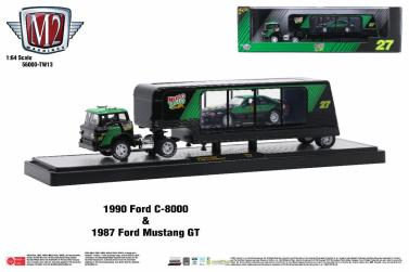 M2-Machines-Coca-Cola-Auto-Haulers-Release-TW13-1990-Ford-C-8000-1987-Ford-Mustang-GT