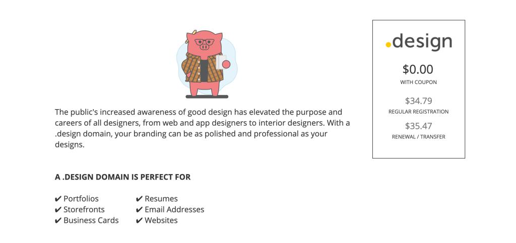 .design nom de domaine gratuit