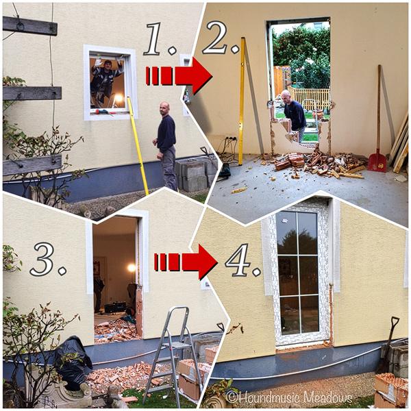 Tür anstatt Fenster!