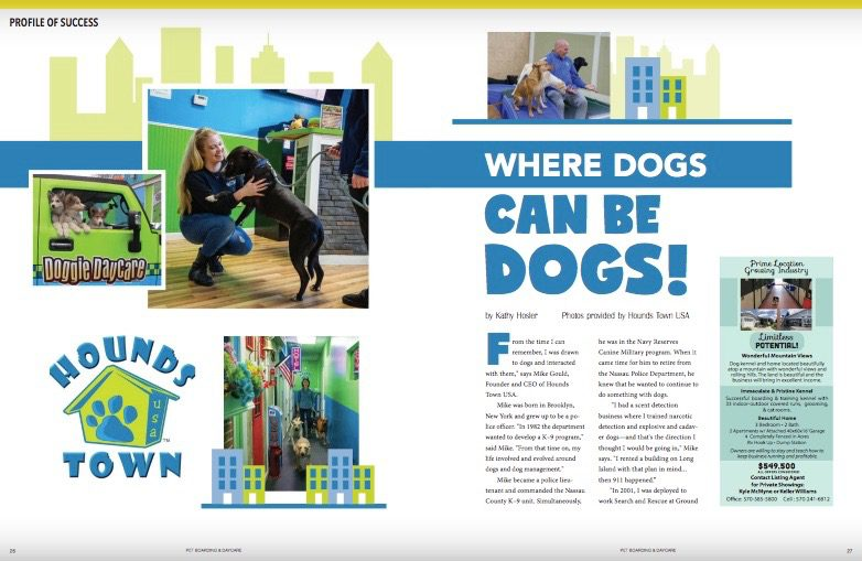 Doggie Daycare Franchise Featured in Pet Boarding & Daycare Magazine