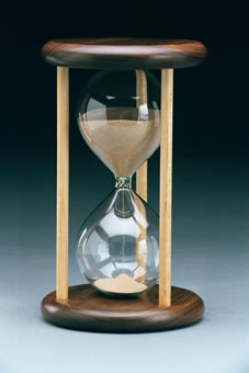 Walnut Maple Wedding Hourglass
