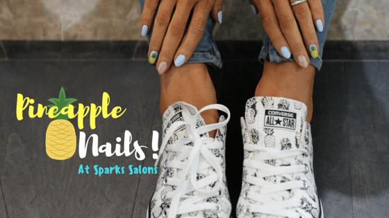 Pineapple Nail Art Spark Salons Toronto