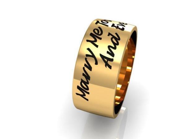 Par de Alianças Ouro 18k Marry Me
