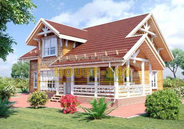 Строительство деревянных домов в Красноярске под ключ ...