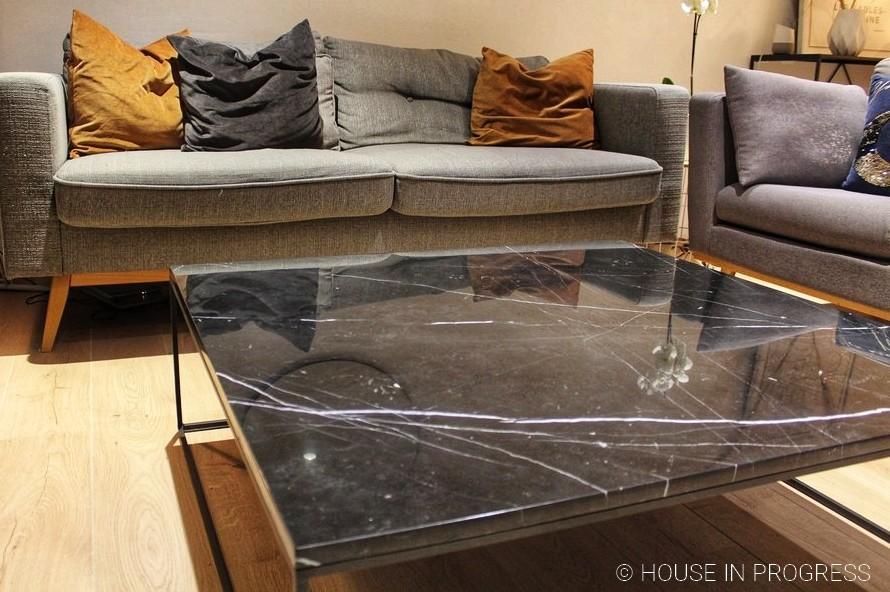 table basse plateau marbre noir am pm