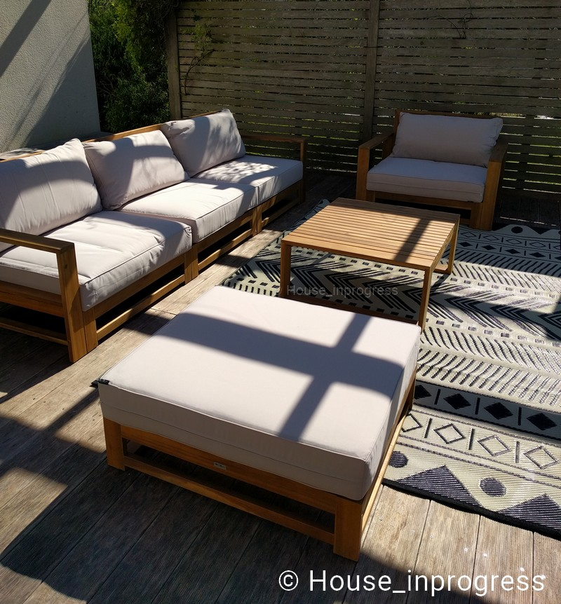salon jardin bois 5 places alice s