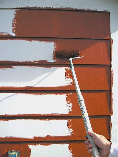 Brushing And Rolling Exterior Paint