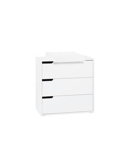 commode blanche 3 tiroirs avec plan a langer milk