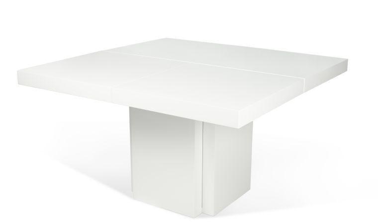 table a manger dusk blanc gloss