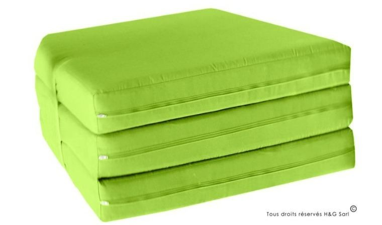 matelas de jardin depliant vert mattress