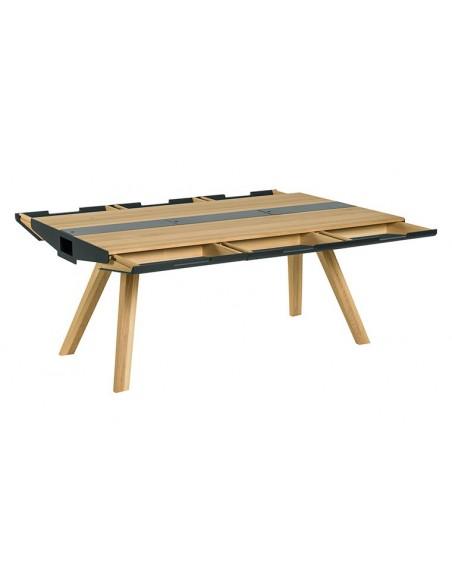 table a manger en chene avec tiroirs nature
