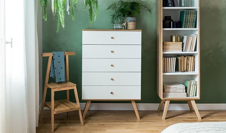 valet chambre en bois design nature