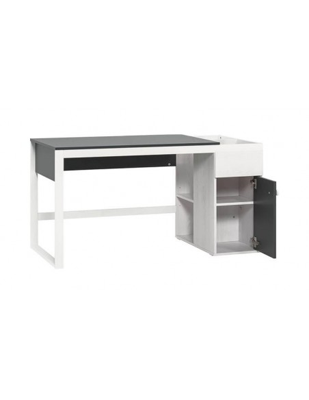 bureau moderne a rangement ado graphite et blanc nest
