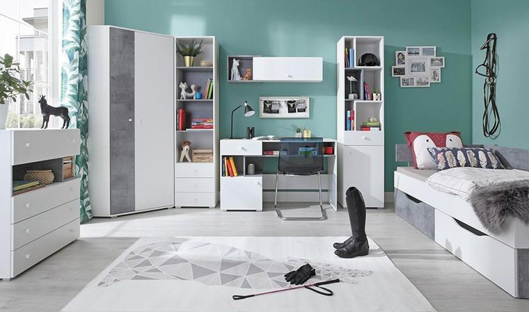 armoire d angle blanche 2 portes alaska blanc