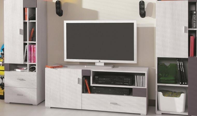 meuble tv chambre ado joy gris