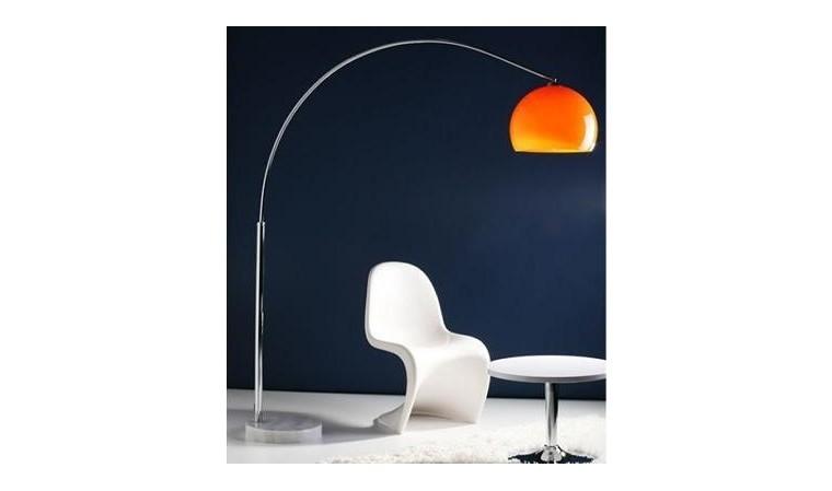 lampadaire arc orange xl