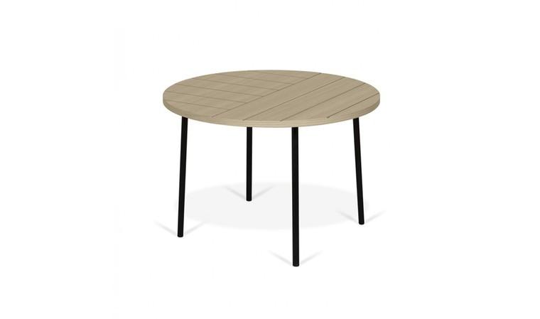table basse ronde 70 cm avec motifs geometriques graves fly