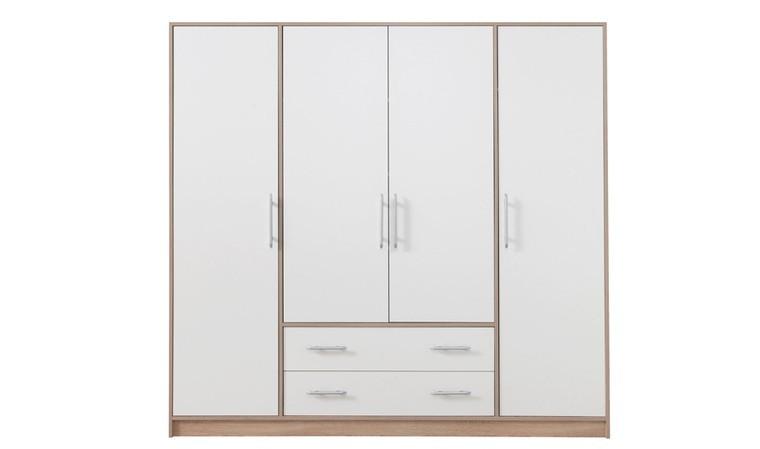 grande armoire blanche 4 portes et 2 tiroirs finland
