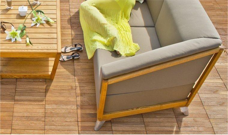 salon bas de jardin design luxe en bois 3 4 places verone