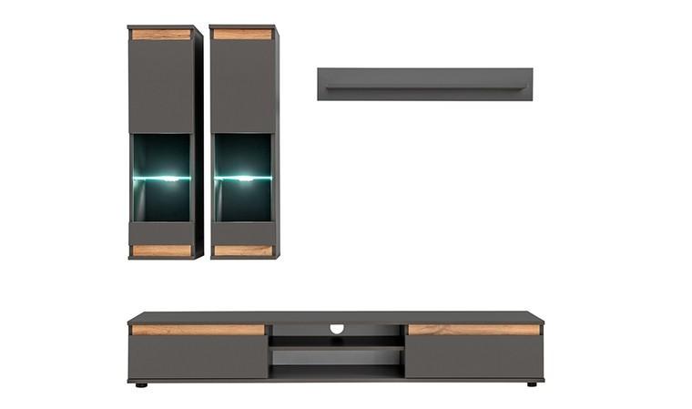 set meuble tv avec rangements muraux apollon