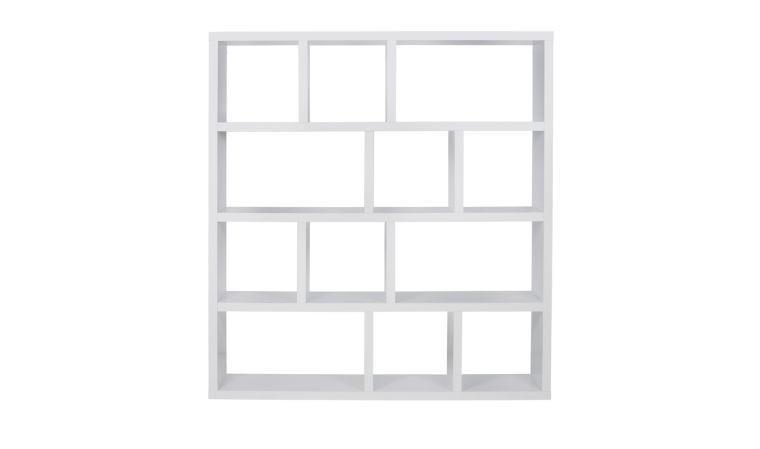 bibliotheque berlin 4 niveaux 150 blanche integrale