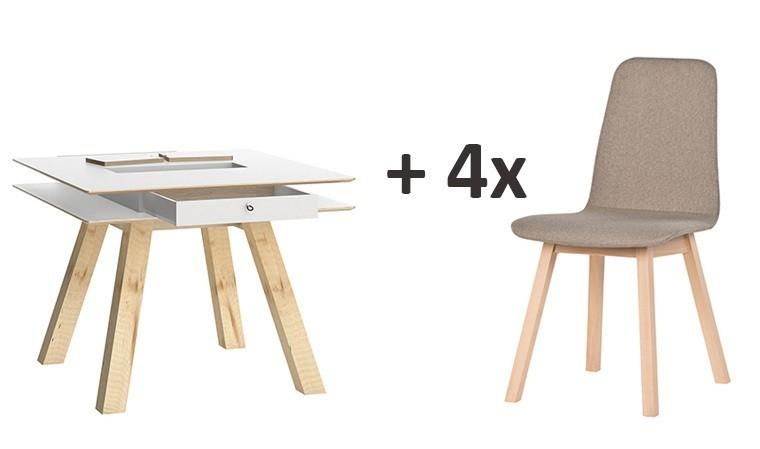 table de cuisine carree 100 x 100 cm 4you