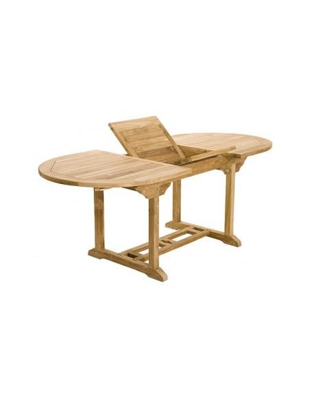 ensemble table extensible 6 chaises pliantes teck borneo