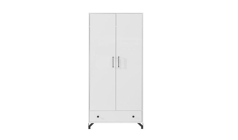 armoire blanche a deux portes battantes norway