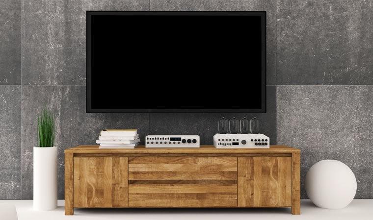 meuble bas pour television suspendue en bois massif kauffman 3