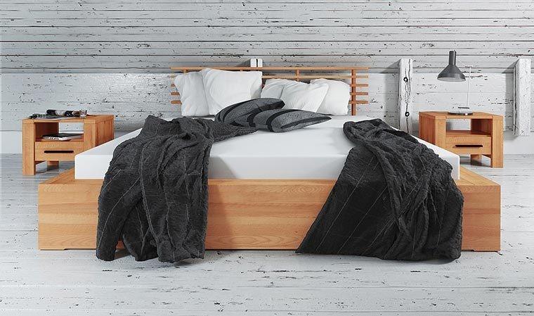 lit en bois massif avec tete de lit design kuby 1
