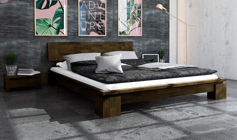 lit en bois massif design contemporain wenge vinci bas