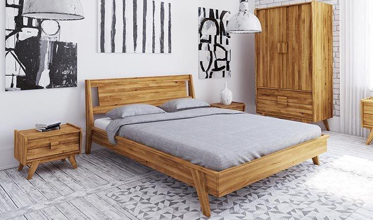 lit vintage en chene massif wooden 2