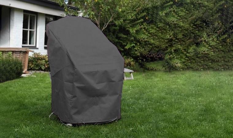 housse de protection pour 4 fauteuils modulo noire