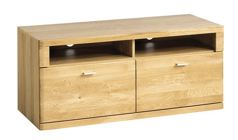meuble tv finition chene naturel 121 cm boston