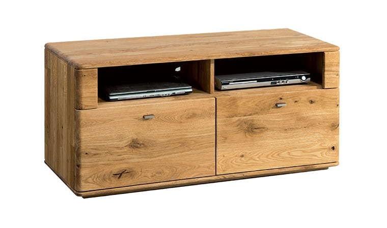 meuble tv en chene massif 120 cm dallas