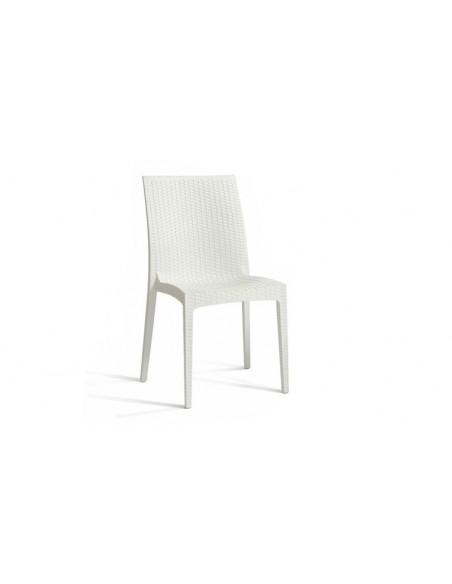 chaise de jardin en pvc blanc empilable cagliari