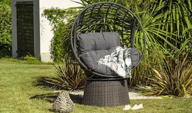 fauteuil de jardin en resine tressee anthracite wallis
