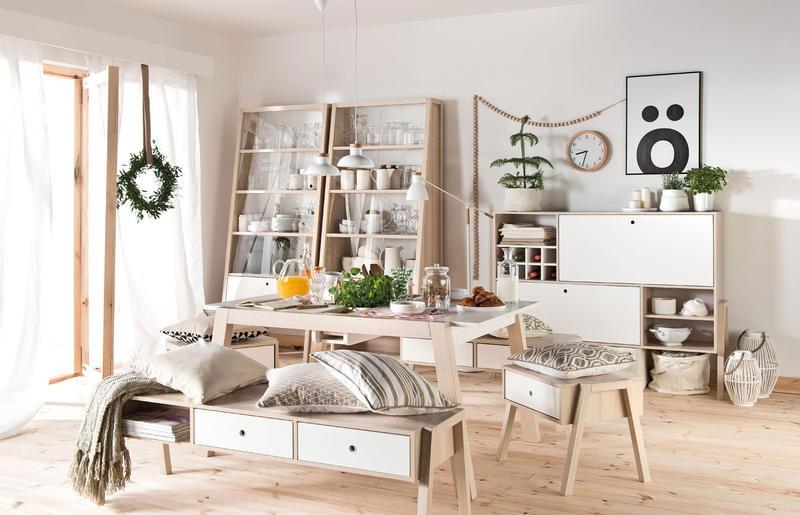 meuble de rangement scandinave blanc et