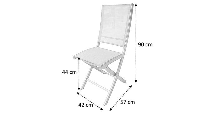 chaise de jardin blanche pliante avec