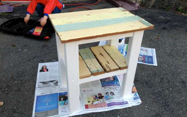 build a rustic diy end table from reclaimed wood | house & hammer
