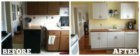 DIY kitchen cabinets  IKEA vs  Home Depot   House and Hammer home depot cabinets before and after