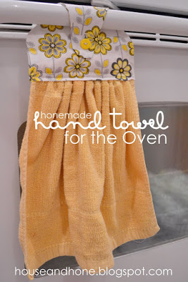 Hone-made Hand towel for the Oven Tutorial