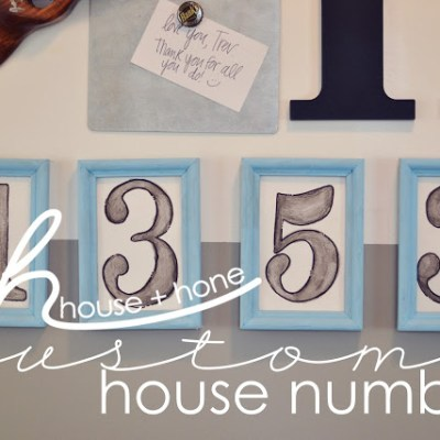 House + Hone DIY Custom House Numbers