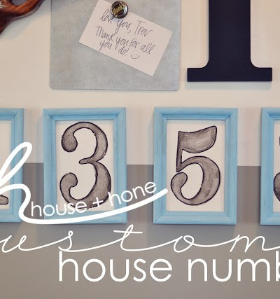 House + Hone DIY Custom House Numbers