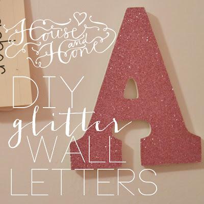 Diy Glitter Wall Letters!