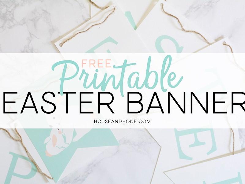 Printable Easter Banner