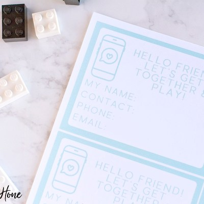Play Date Contact Cards!