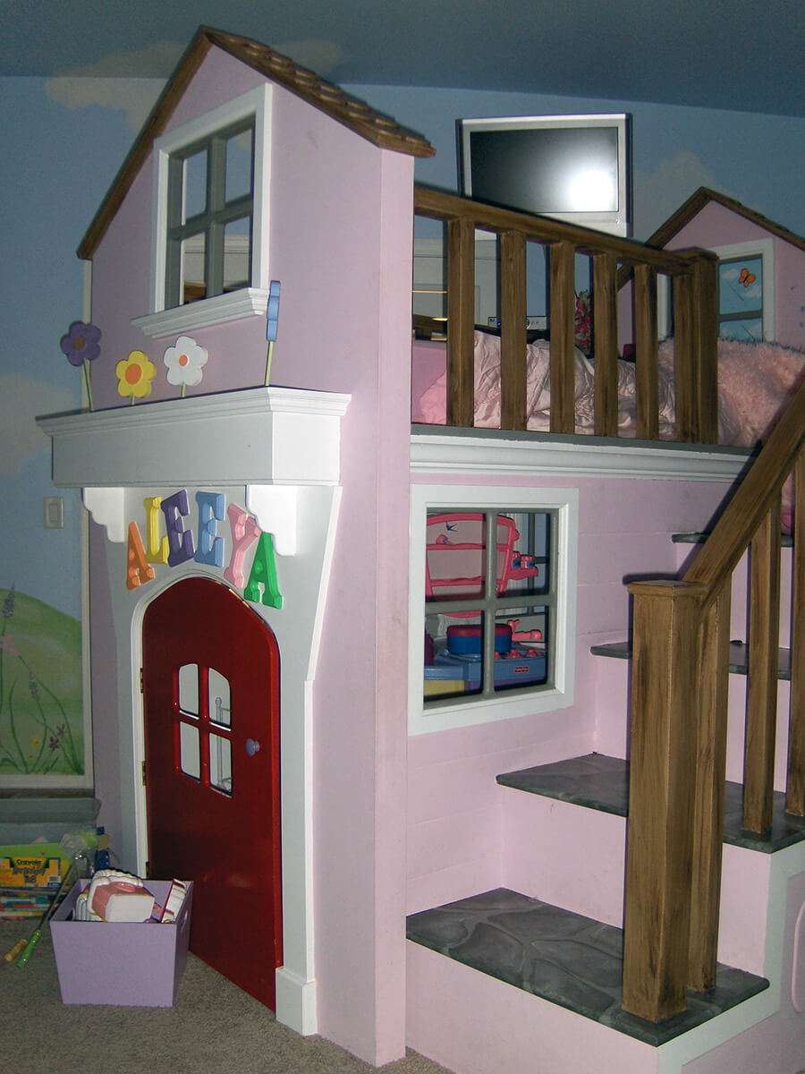 Fairy Land Amp Custom Bunk Bed Houseart Custom Painting