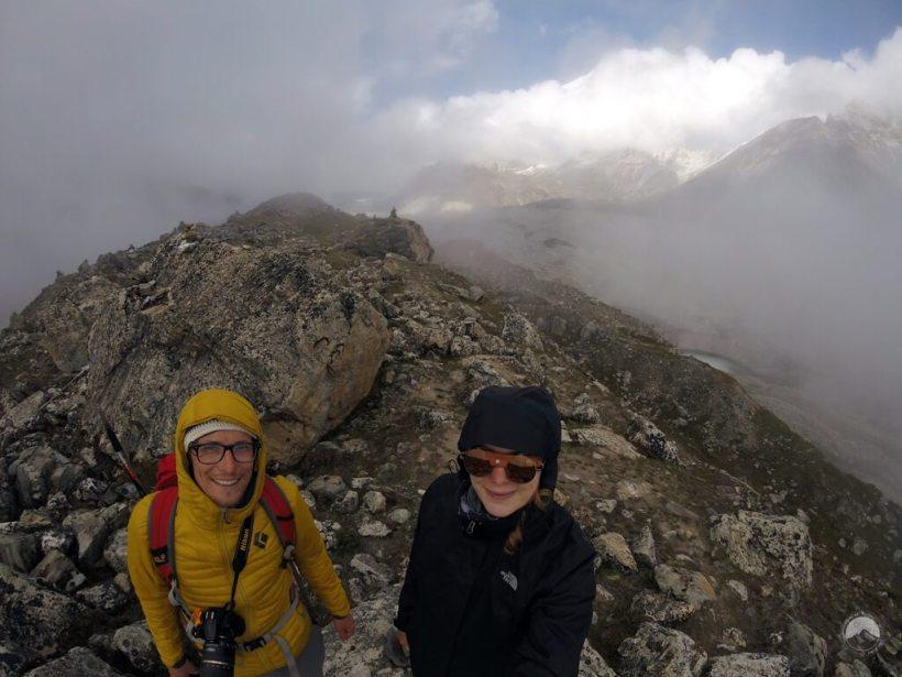 auf der Seitenmoräne des Khumbugletschers